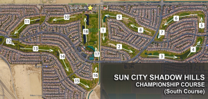 Sun City Shadow Hills Golf Map (South Course)